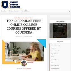 TOP 10 POPULAR FREE ONLINE COLLEGE COURSES at COURSERA