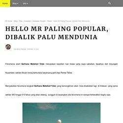 Hello Mr Paling Popular, Dibalik Palu Mendunia