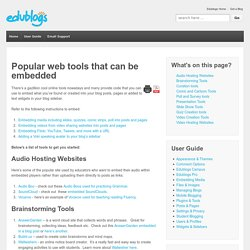 Web tools that can be embedded