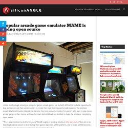 Popular arcade game emulator MAME is going open source