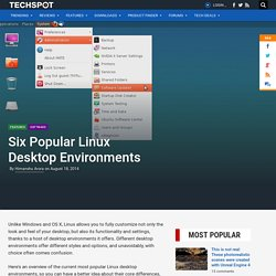 Six Popular Linux Desktop Environments