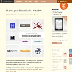 15 most popular fanfiction websites