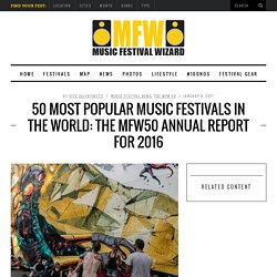 50 Most Popular Music Festivals in the World: The MFW50 Annual Report for 2016