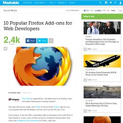 10 Popular Firefox Add-ons for Web Developers