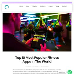 Top 10 Most Popular Fitness Apps In The World - Omninos Solutions