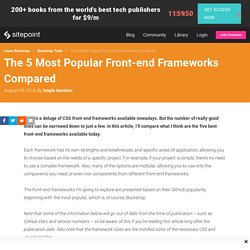 The 5 Most Popular Front-end Frameworks Compared
