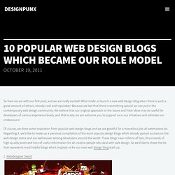 Most Popular Web Design Blogs to Get Inspired | designPunx