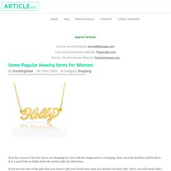 Some Popular Jewelry Items for Women