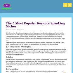 The 5 Most Popular Keynote Speaking Niches