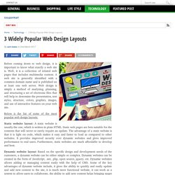 3 Widely Popular Web Design Layouts - icouponkart