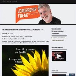The 7 Most Popular Leadership Freak Posts of 2014