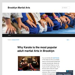 Why Karate is the most popular adult martial Arts in Brooklyn
