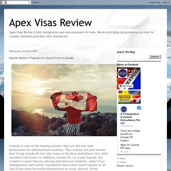 Apex Visas Review: Popular Masters Programs to choose from in Canada