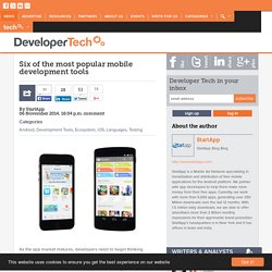 Six of the most popular mobile development tools