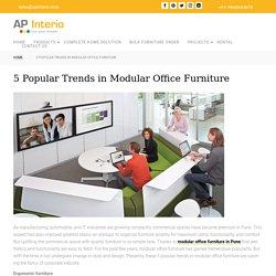 5 Popular Trends in Modular Office Furniture