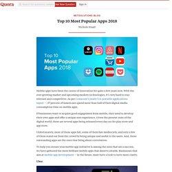 Top 10 Most Popular Apps 2018
