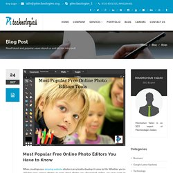 Most Popular Free Online Photo Editors You Have to Know
