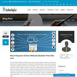 Most Popular Online Website Builder Free Site List