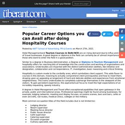 Popular Career Options you can Avail after doing Hospitality Courses