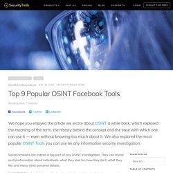 Top 9 Popular OSINT Facebook Tools