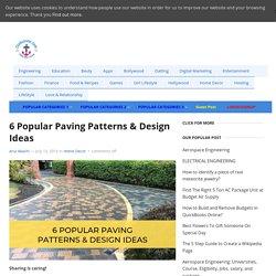 6 Popular Paving Patterns & Design Ideas