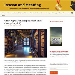 Great Popular Philosophy Books (that changed my life)