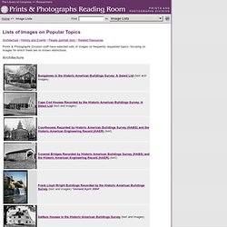 Lists of Images on Popular Topics (Prints and Photographs Reading Room, Library of Congress)