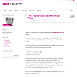 Top 100 Best, Cool, Most Popular Professional Fonts (In English) - StumbleUpon