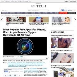 Most Popular Free Apps For iPhone, iPad: Apple Reveals Biggest Downloads Of All Time