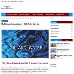 Most Popular Science Project - Oil & Water Don't Mix