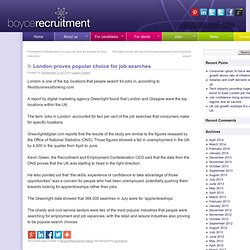 London proves popular choice for job searches