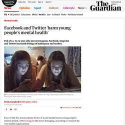 Popular social media sites 'harm young people's mental health'