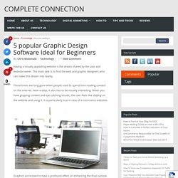 5 popular Graphic Design Software Ideal for Beginners