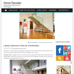 3 Most Popular Types of Staircases - Home Decoder