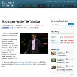 The 20 Most Popular TED Talks Ever
