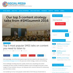 Top 5 most popular SMSS talks on content you need to listen to
