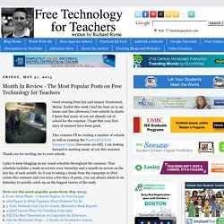 Month In Review - The Most Popular Posts on Free Technology for Teachers