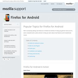 Popular Topics for Firefox for Android