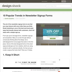 10 Popular Trends in Newsletter Signup Forms