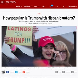 How popular is Trump with Hispanic voters?