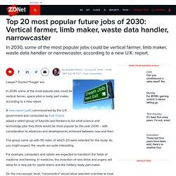 Top 20 most popular future jobs of 2030: Vertical farmer, limb maker, waste data handler, narrowcaster