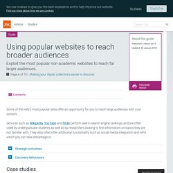 Using popular websites to reach broader audiences