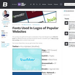 Fonts Used In Logos of Popular Websites | Build Internet!