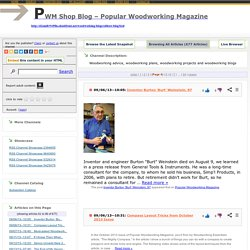 PWM Shop Blog – Popular Woodworking Magazine