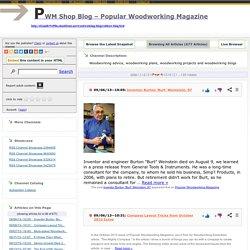 PWM Shop Blog – Popular Woodworking Magazine