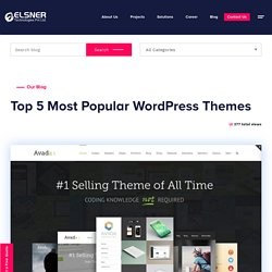 Most Popular WordPress Themes - WordPress Development