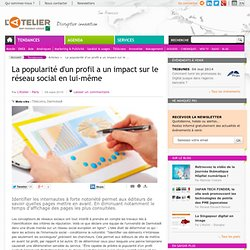 La popularité d'un profil a un impact sur le réseau social en lu