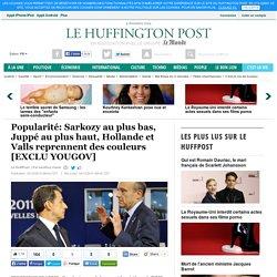 Popularité: Sarkozy au plus bas, Juppé au plus haut, Hollande et Valls reprennent des couleurs [EXCLU YOUGOV]