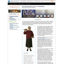 One Book Projects Grow in Popularity (January 2006) - Library of Congress Information Bulletin