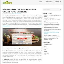 Reasons Why Order Takeaway Online Gaining Popularity